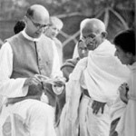 Mahadev Desai and Gandhi 1939 150x150 AHIMSA Poem