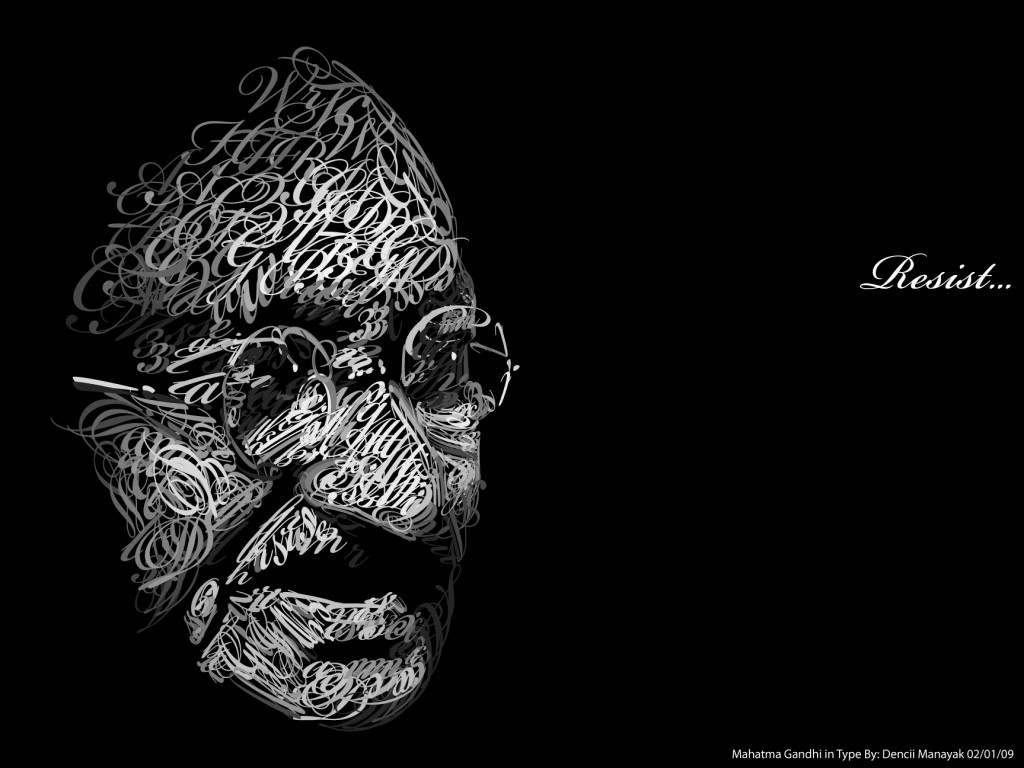 Gandhi_in_Type_by_Dencii