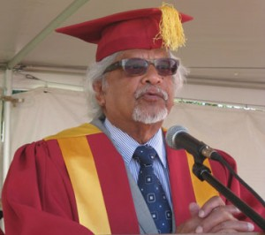 Arun Gandhi African University Commencement