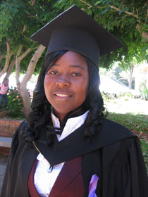 Marilyn Chimbaira graduating