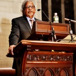 Arun Gandhi Urges Nonviolence in Cornell Speech