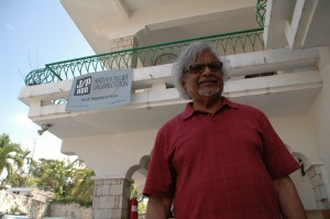 Arun Gandhi in Port Au Prince Haiti