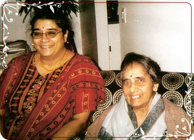 Sunanda Gandhi with daughter Archana Prasad