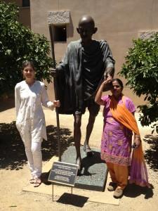 Lynnea Bylund, Bapu Gandhi and Anuradha Bhosale