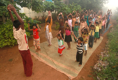 AVANI Kolhapur children doing yoga